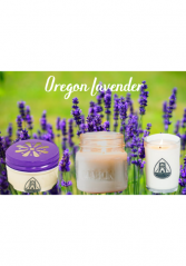 Oregon Lavender Candles Locally Made by Bridge Nine