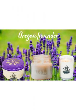 Oregon Lavender Candles Locally Made by Bridge Nine