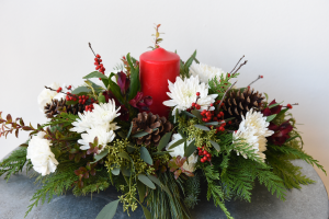 Organic Christmas Centerpiece  in La Grande, OR | FITZGERALD FLOWERS