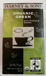 Organic Green tea with Citrus and Ginkgo Harney & Sons Tea