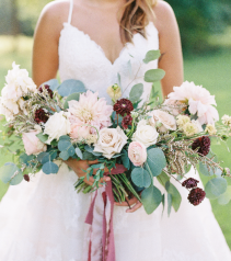 Organic Mauve Bouquet Bridal Bouquet