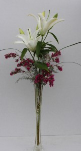 Oriental Lilly in Stiletto Vase Arrangement