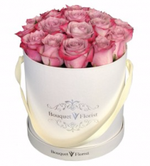 Sweet pink rose Flower Box