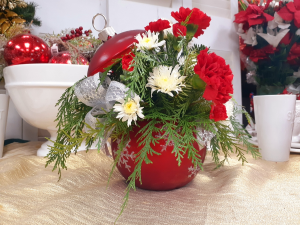 Ornament Christmas 2019 Christmas Arrangement in Berwick, LA | TOWN & COUNTRY FLORIST & GIFTS, INC.