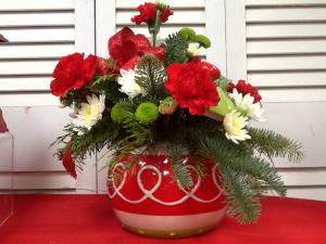 Ornament Cookie Jar Christmas 2020 All around arrangement in Berwick, LA | TOWN & COUNTRY FLORIST & GIFTS, INC.