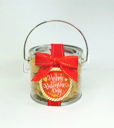 O'Sugar Cookie Can with Mylar Balloon  Valentine's Day