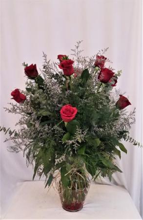 Our Classic Dozen Red Rose Arrangement