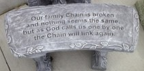 Our Family Chain is Broken~ Bench Out of stock