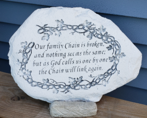 Our Family Chain Sympathy Stone in Port Huron, MI | CHRISTOPHER'S FLOWERS