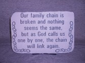 """Our Family Chain"" Sympathy Stone Sympathy"