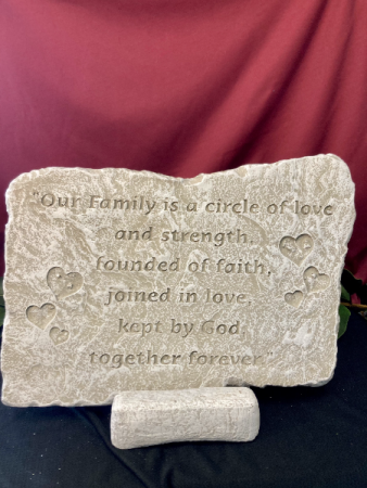 Our Family Is A Circle Stone