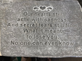 Our hearts plaque