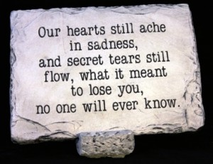 Our Hearts Still Ache Large Memorial Stone in Springfield, IL | FLOWERS BY MARY LOU INC