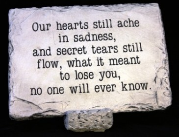 Our Hearts Still Ache Large Memorial Stone