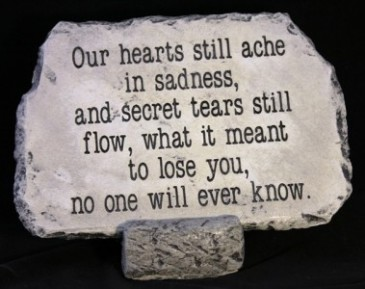 Our Hearts Still Ache Medium Stone