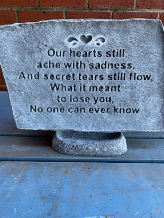 Our hearts still ache with sadness...