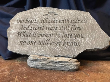 Our hearts still ache with sadness Memorial Stone