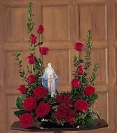 Our Lady of Grace Sympathy Table Arrangement