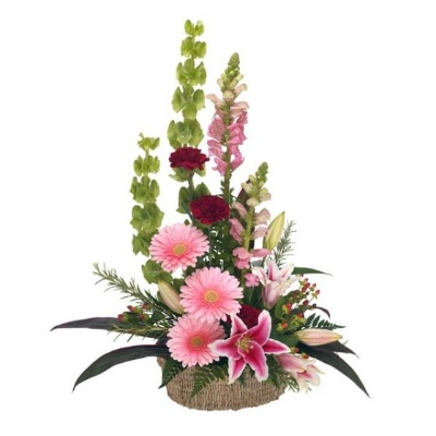 Our Thought And Prayers fresh arrangement only offered in standard size as shown