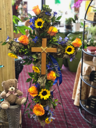 Our tribute to you cross arrangement
