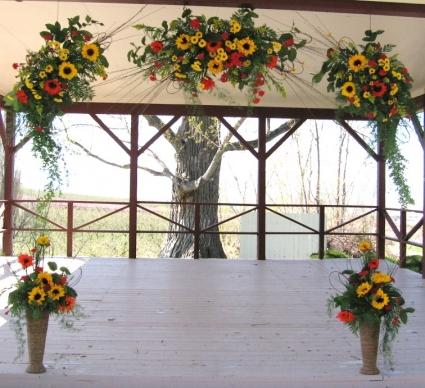 Outdoor Gazebo Decor Wedding Site In Caldwell Id Bayberries