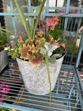 Outdoor Tin Planter