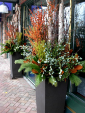 Outdoor Winter Urns