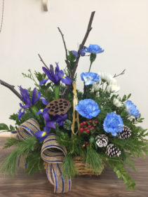 Outdoorsman Basket arrangement