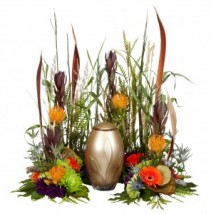Outdoorsman Urn Arrangement - AWF1021 Urn Not Included