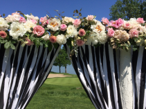 Outside wedding arch