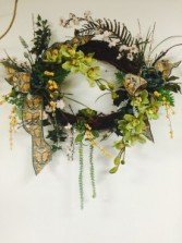 oval designer mantel wreath