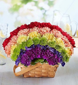 Over the Rainbow Basket  Fresh Arrangement
