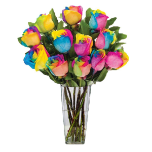 Over the Rainbow Bouquet of Roses in Barre, VT | Forget Me Not Flowers and Gifts LLC