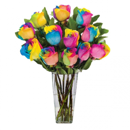 Over the Rainbow Bouquet of Roses