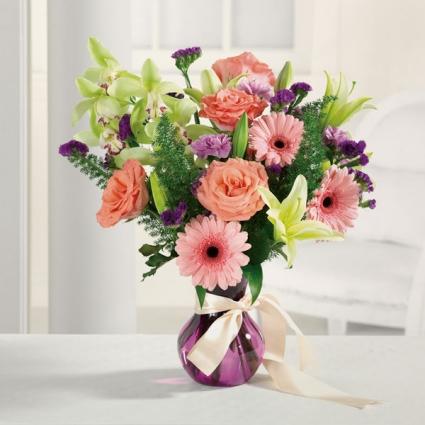 Over the Rainbow  Vase arrangement
