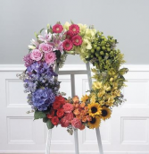 Over The Rainbow Wreath