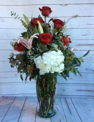 Over The Top Fragrant Rose Vase  in Culpeper, VA | ENDLESS CREATIONS FLOWERS AND GIFTS