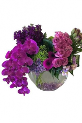 Over the top vase arrangement please order 3 days in advance for availability of flowers
