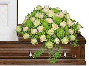 Overflowing Affection Casket Spray in Port Huron, MI | CHRISTOPHER'S FLOWERS