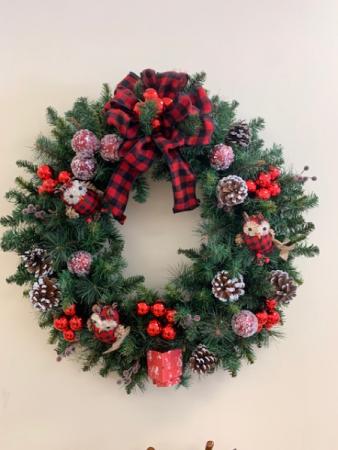 Owl Christmas Wreath Christmas Wreath