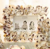 oyster shell picture frame