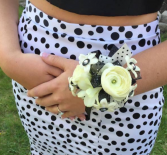 Perfect Polka Dots Wrist Corsage