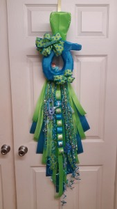 pacifier Baby door badge Wreath