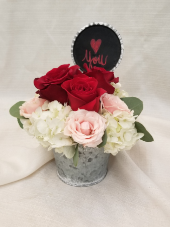 Pail of Love-SOLD OUT fresh arrangement