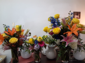 paint brush colors vase