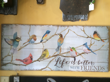 Painted bird Dign Wall Sign