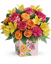 Painted Blossoms Arrangement