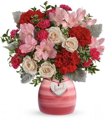 Painted In Love Bouquet  All-Around Floral Arrangement