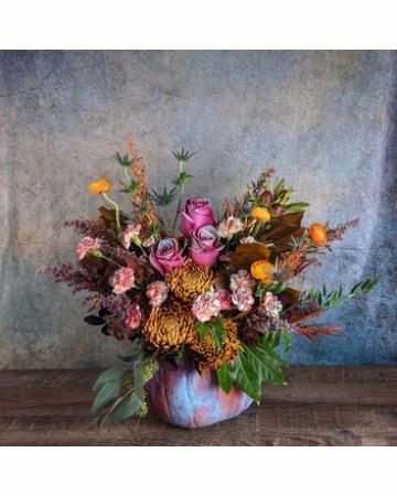 Painted Pumpkin Flowers