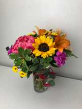 Painted Sunset Vase Arrangement